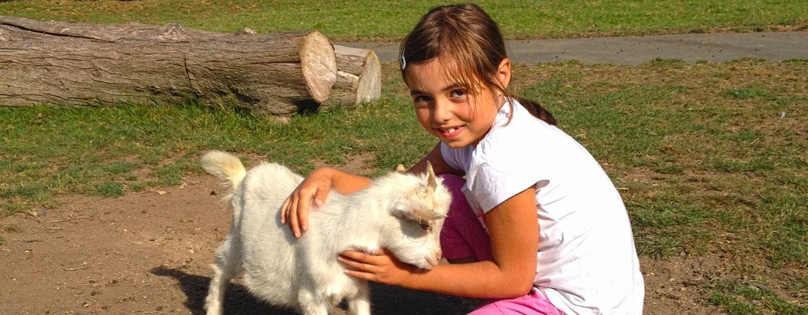 Camille et petite chèvre